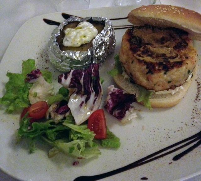 Burger di gamberi