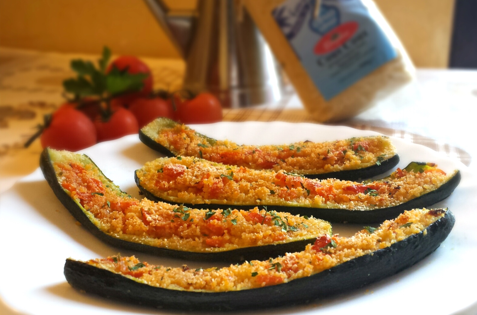 Zucchine ripiene di cous cous