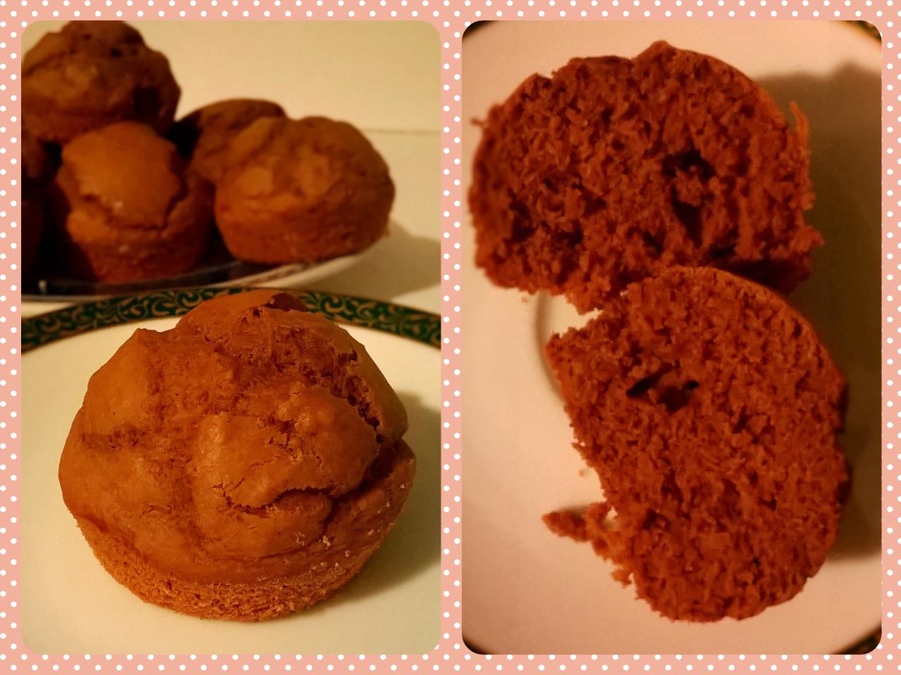 Muffin di zucca al cacao