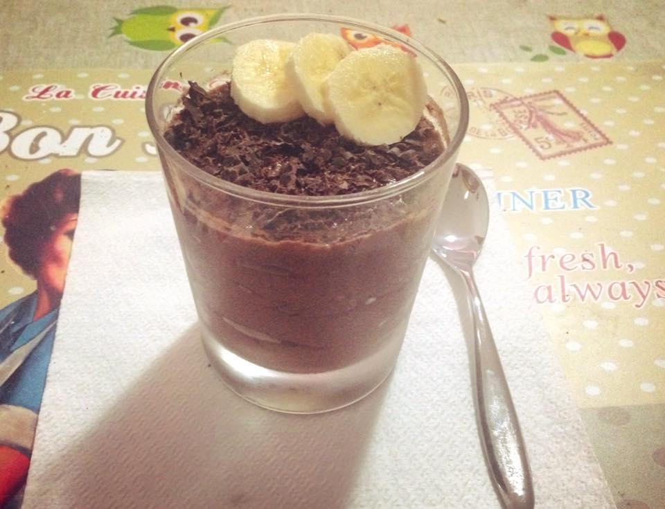 Mousse proteica cacao e banana