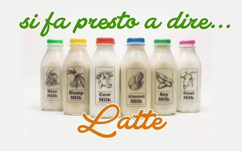 latte tipi vegetale e animale