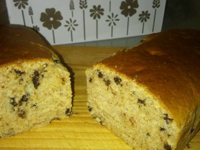 Plumcake integrale con arancia e gocce di cioccolato