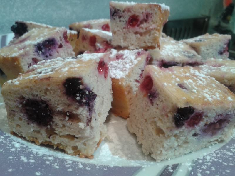 Brownies ai frutti rossi