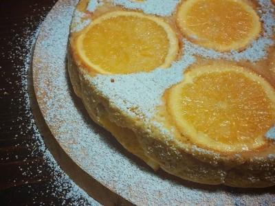 Torta all'arancia al microonde