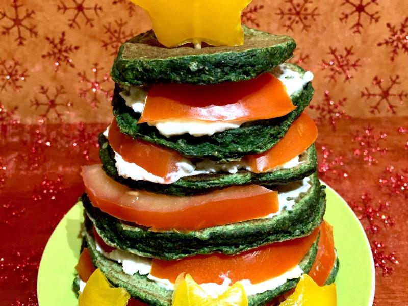 Pancake salati agli spinaci