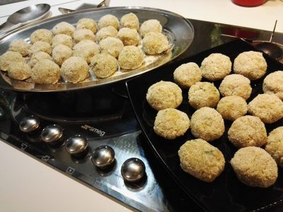 Polpette di verdura: patate, carote, porri e carciofi