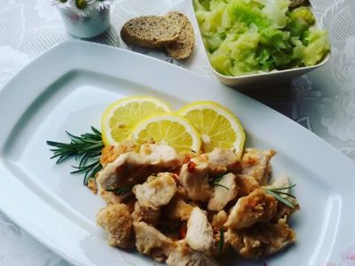 Pollo al limone: bocconcini light