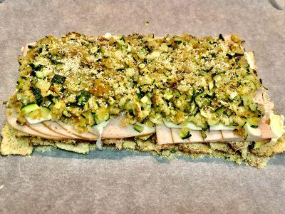 Tortino di Zucchine gratinate, Tacchino e Mozzarella Light