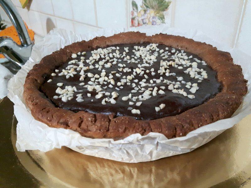 Crostata proteica al cacao