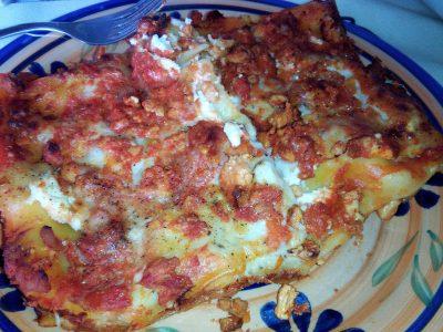 Lasagna light con ragù di pollo e besciamella