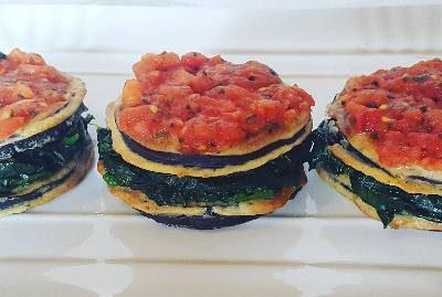 Lasagne di melanzane e spinaci
