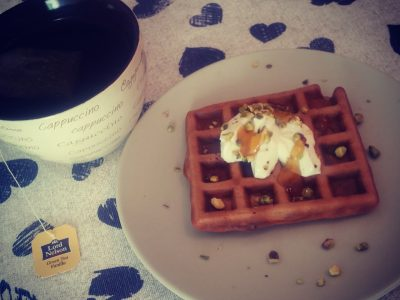 Waffle light allo yogurt greco con gelato light