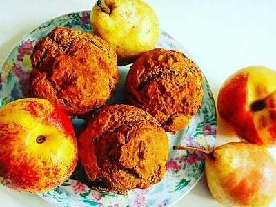 Muffin integrali alle pesche e pere