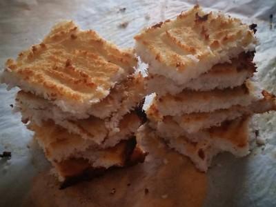 Dolcetti di cocco, albume e miele