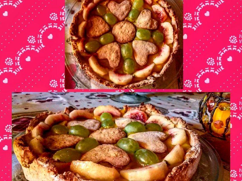 Crostata con crema aromatizzata all'arancia e lime