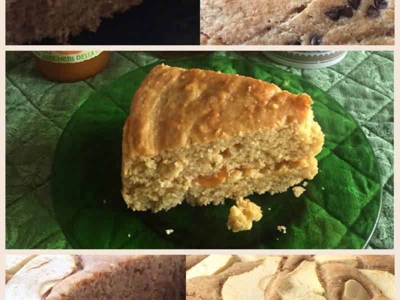 Torta integrale arancia, con cioccolato o alle mele