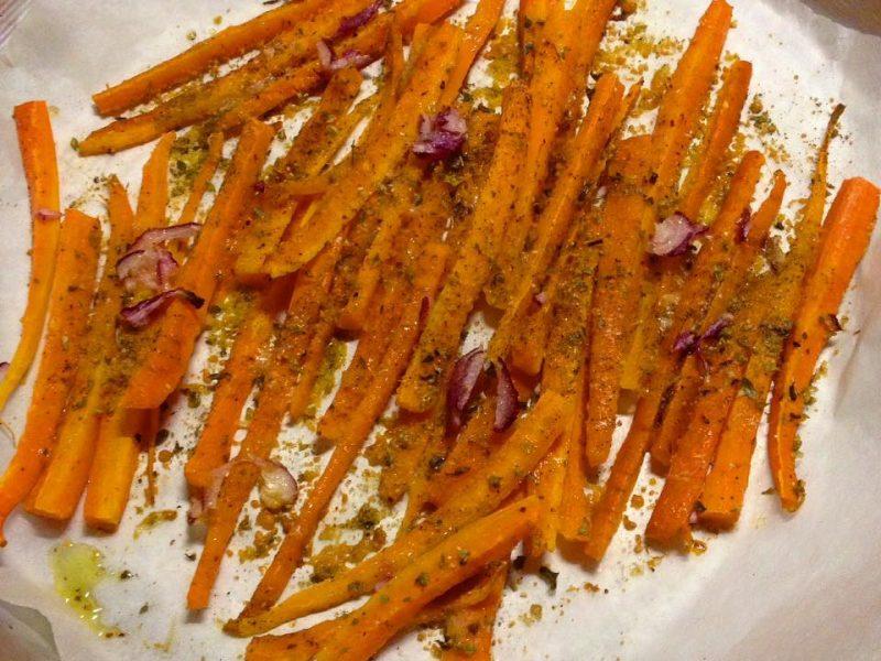 Chips di Carote speziate al forno