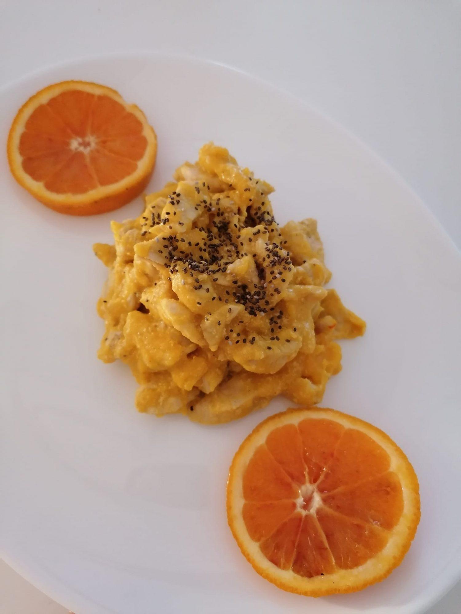Petto di pollo all'arancia e zafferano
