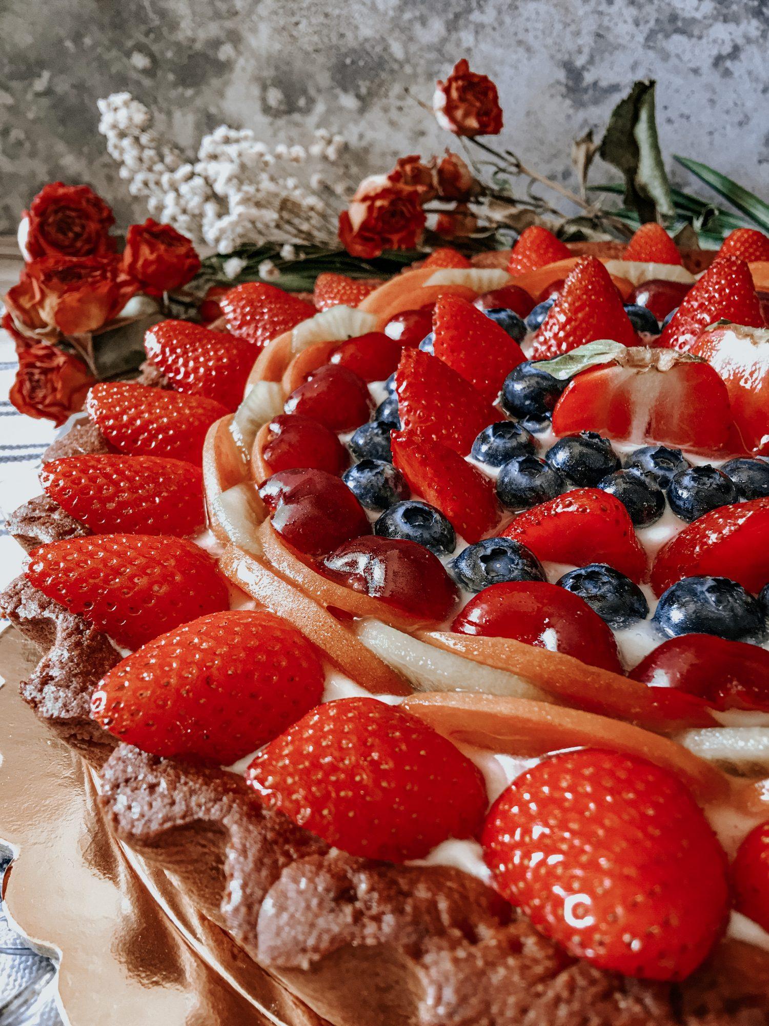 Crostata-Cheesecake alla frutta fresca