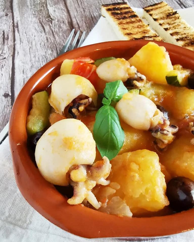 Seppioline in umido alla Siciliana