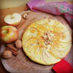 Frittata di mela in padella