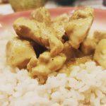 pollo cocco e curry